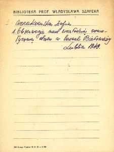 """Kartoteka """"Biblioteka Prof. Władysława Szafera"""" : War-Wie"""