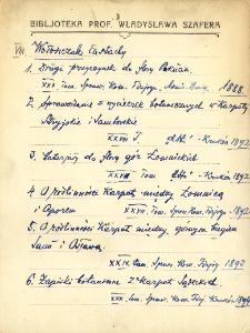 """Kartoteka """"Biblioteka Prof. Władysława Szafera"""" : Wołosz-Zan"""