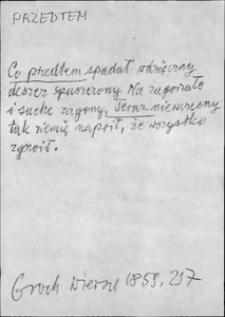 Kartoteka Słownika języka polskiego XVII i 1. połowy XVIII wieku; Przedtem - Przeklęty