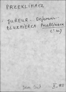 Kartoteka Słownika języka polskiego XVII i 1. połowy XVIII wieku; Przeklinacz - Przenicować