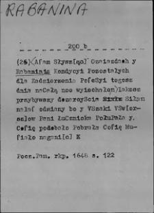 Kartoteka Słownika języka polskiego XVII i 1. połowy XVIII wieku; Rabanina - Rad