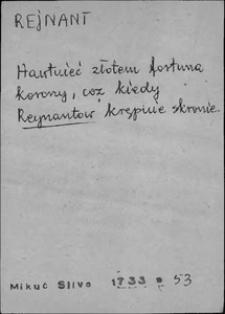 Kartoteka Słownika języka polskiego XVII i 1. połowy XVIII wieku; Rejnant - Respota