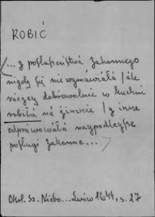 Kartoteka Słownika języka polskiego XVII i 1. połowy XVIII wieku; Robić2 - Rodzice