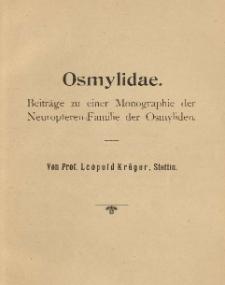 Osmylidae: Beiträge zu einer Monographie der Neuropteren-Familie der Osmyliden