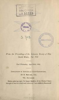 Descriptions of Australian Micro-Lepidoptera