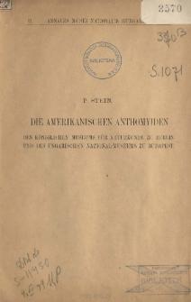 Die Amerikanischen Anthomyiden des Königlichen Museums für Naturkunde zu Berlin und des Ungarischen National-Museums zu Budapest