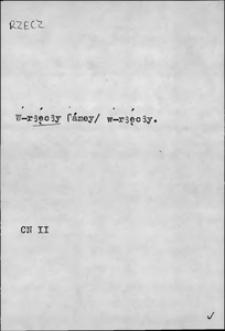 Kartoteka Słownika języka polskiego XVII i 1. połowy XVIII wieku; Rzecz2 - Rzeczpospolita1