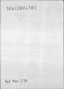 Kartoteka Słownika języka polskiego XVII i 1. połowy XVIII wieku; Sowiźralski - Spiczka