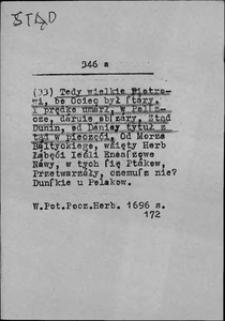Kartoteka Słownika języka polskiego XVII i 1. połowy XVIII wieku; Stąd2 - Stolica