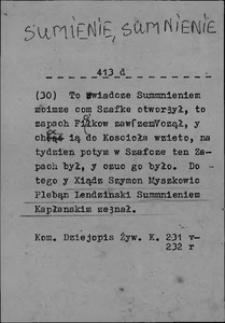 Kartoteka Słownika języka polskiego XVII i 1. połowy XVIII wieku; Sumienie2 - Swojszczyzna