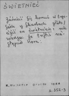 Kartoteka Słownika języka polskiego XVII i 1. połowy XVIII wieku; Świetnieć - Święty1