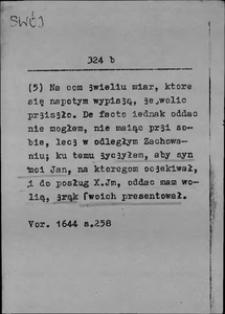 Kartoteka Słownika języka polskiego XVII i 1. połowy XVIII wieku; Swój4 - Swywolny