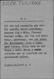 Kartoteka Słownika języka polskiego XVII i 1. połowy XVIII wieku; Szpetulicha - Szufla