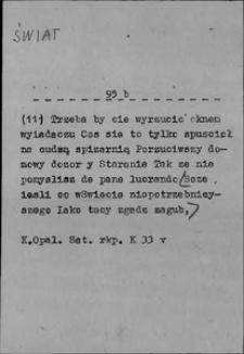 Kartoteka Słownika języka polskiego XVII i 1. połowy XVIII wieku; Świat2 - Świetnie
