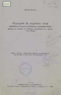 Przyczynek do znajomości fauny Halticinów (Coleoptera) południowo-wschodniej Polski = Beitrag zur Kenntnis der Halticinen (Coleoptera) des südöstlichen Polens