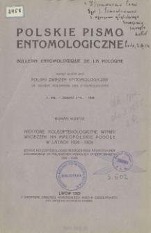Niektóre koleopterologiczne wyniki wycieczek na małopolskie Podole w latach 1926-1928 = Einige koleopterologische Ergebnisse faunistischer Excursionen im polnischen Podolien in den Jahren 1926-1928