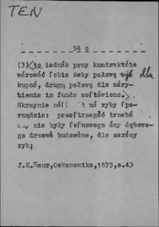 Kartoteka Słownika języka polskiego XVII i 1. połowy XVIII wieku; Ten5