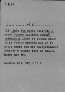 Kartoteka Słownika języka polskiego XVII i 1. połowy XVIII wieku; Ten8