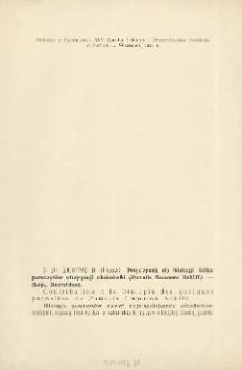 Przyczynek do biologji kilku pasorzytów strzygonji choinówki (Panolis flammea Schiff.) - (Lep., Noctuidae)