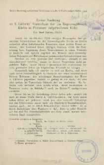 Erster Nachtrag zu A. Lüllwitz' Verzeichnis der im Regierungsbezirk Köslin in Pommern aufgefundenen Käfer