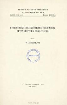 Ueber einige hochnordische Trichocera-Arten (Diptera Nematocera)