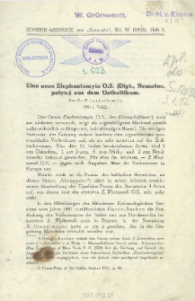 Eine neue Elephantomyia O.S. (Dipt., Nematoc. polyn.) aus dem Ostbaltikum