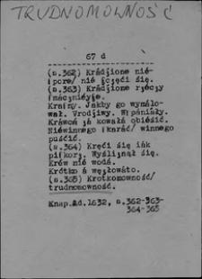 Kartoteka Słownika języka polskiego XVII i 1. połowy XVIII wieku; Trudnomowność - Trybunał1