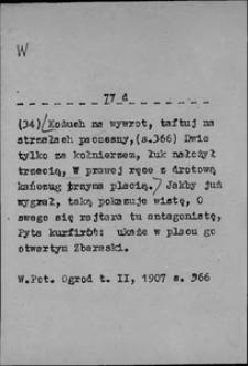 Kartoteka Słownika języka polskiego XVII i 1. połowy XVIII wieku; W8