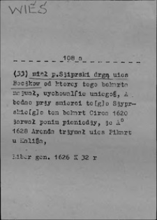 Kartoteka Słownika języka polskiego XVII i 1. połowy XVIII wieku; Wieś2 - Więc1