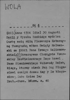 Kartoteka Słownika języka polskiego XVII i 1. połowy XVIII wieku; Wola2 - Wolny