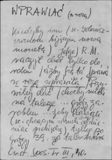 Kartoteka Słownika języka polskiego XVII i 1. połowy XVIII wieku; Wprawiać - Wróblowy