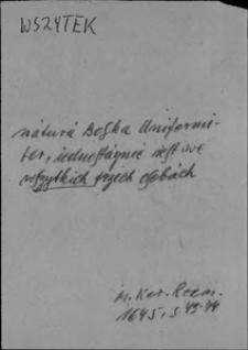 Kartoteka Słownika języka polskiego XVII i 1. połowy XVIII wieku; Wszytek3
