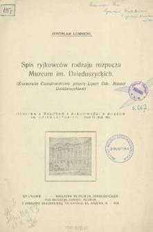 Spis ryjkowców rodzaju rozpucza Muzeum im. Dzieduszyckich