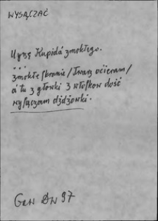 Kartoteka Słownika języka polskiego XVII i 1. połowy XVIII wieku; Wysączać - Wystawiciel