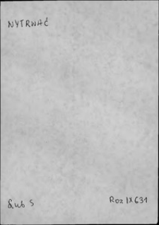 Kartoteka Słownika języka polskiego XVII i 1. połowy XVIII wieku; Wytrwać - Wyznaczyć się