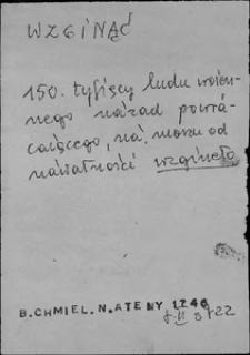 Kartoteka Słownika języka polskiego XVII i 1. połowy XVIII wieku; Wzginąć - Wziąć1