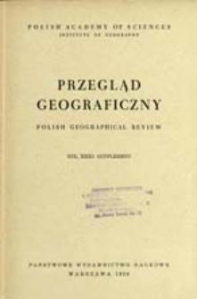 Przegląd Geograficzny T. 31 Supplement (1959)