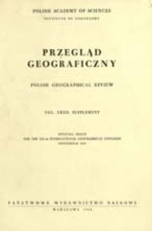 Przegląd Geograficzny T. 32 Supplement (1960)