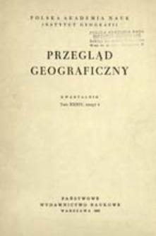 Przegląd Geograficzny T. 34 z. 4 (1962)