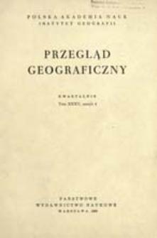Przegląd Geograficzny T. 35 z. 4 (1963)