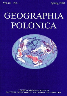 Geographia Polonica Vol. 81 No. 1 (2008)