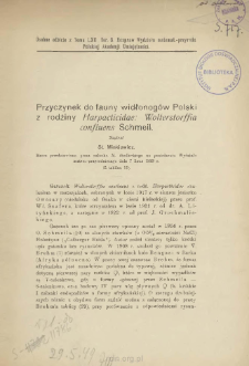 Przyczynek do fauny widłonogów Polski z rodziny Harpacticidae: Wolterstorffia confluens Schmeil