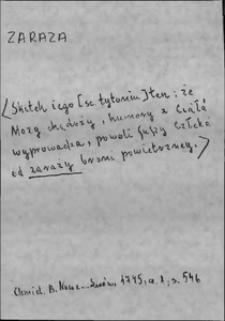 Kartoteka Słownika języka polskiego XVII i 1. połowy XVIII wieku; Zaraza - Zasię