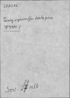 Kartoteka Słownika języka polskiego XVII i 1. połowy XVIII wieku; Zgrzać - Ziemek