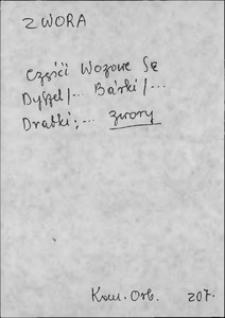 Kartoteka Słownika języka polskiego XVII i 1. połowy XVIII wieku; Zwora - Żżynać