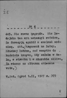 Kartoteka Słownika języka polskiego XVII i 1. połowy XVIII wieku; Że4