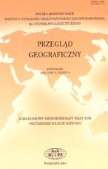 Przegląd Geograficzny T. 75 z. 4 (2003)