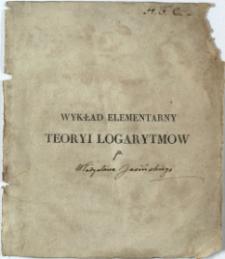 Wykład elementarny teoryi logarytmów