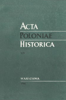 Acta Poloniae Historica T. 14 (1966), Title pages, Contents