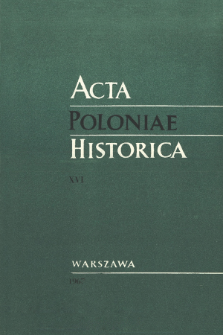 Acta Poloniae Historica T. 16 (1967), Title pages, Contents
